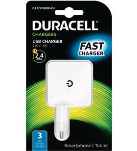 Cargador de pared Duracell DRACUSB2W-EU - 1xusb - 5v - 2.4a - DRC-CARGA DRACUSB2W-EU