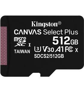 Tarjeta microsd xc 512gb + adaptador kiNgston canvas select plus - clase 10 SDCS2/512GB - KIN-MICROSD SDCS2 512GB