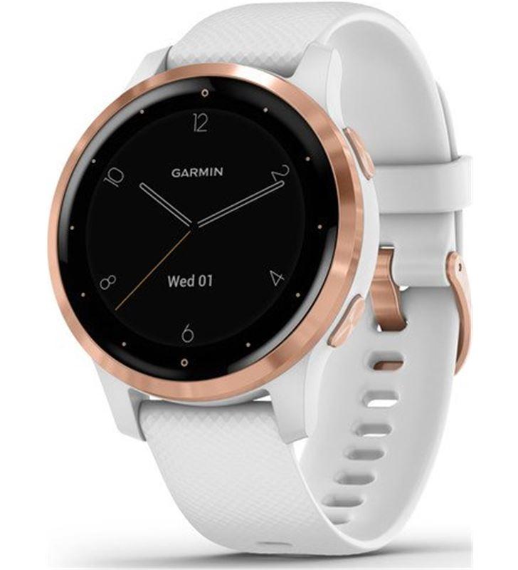 Reloj deportivo con gps Garmin vivoactive 4s blanco con hebilla goldrose - 010-02172-22 - GAR-RELOJ 010-02172-22