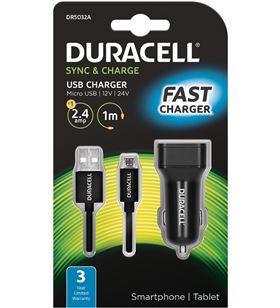 Cargador de coche Duracell DR5032A - 5v / 2.4a - cable micro usb - DRC-CARGA COCHE DR5032A