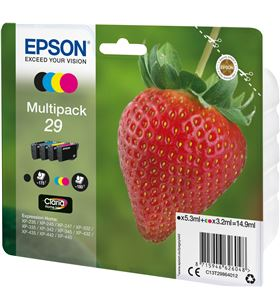 Multipack tinta Epson 29 claria home 4 colores blister C13T29864022 - 33622543_3808709472