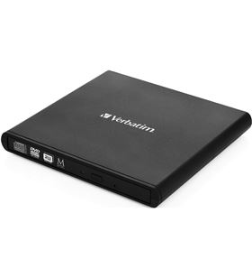 Grabadora externa cd/dvd slimline Verbatim 98938 black - cd 24x - dvd 8x - - VERB-DVD 098938