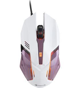Ratón gaming Ngs gmx-100 pink - 1000/2400 dpi - 6 botones+scroll - iluminac GMX-100PINK - NGS-MOU GMX-100PINK