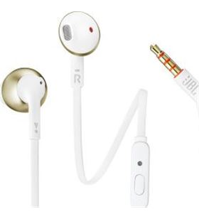 Auriculares Jbl tune 205 champagne gold - drivers 12.5mm - pure bass sound JBLT205CGD - JBL-AUR T205CGD