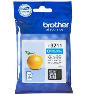 Cartucho de tinta cian Brother LC3211C - 200 páginas - compatible según esp - BRO-C-LC3211C