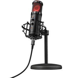 Micrófono Trust gaming gxt 256 exxo usb streaming - grabación cardioide alt 23510 - TRU-MIC 23510