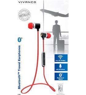 Auriculares boton Vivanco 37585 microfono rojo Auriculares - 37585