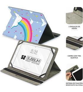 Sihogar.com funda universal subblim trendy case unicorn para tablet hasta 10.1''/25.6cm sub-cut-4tc008 - SUB-FUNDA CUT-4TC008