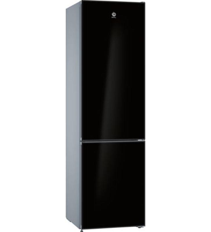 Balay 3KFE765BI frigorífico combi clasee 203x60 no frost cristal negro - BAL3KFE765BI