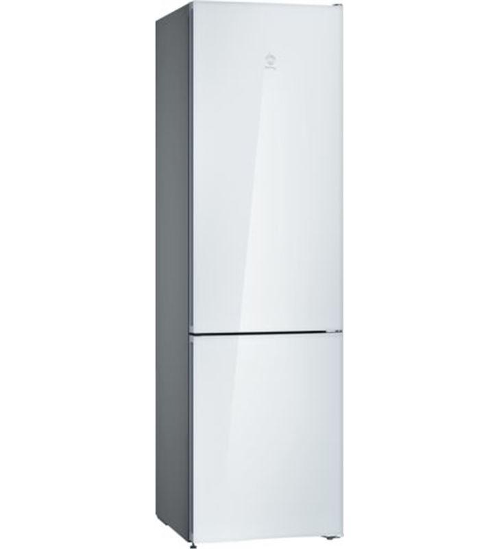 Balay 3KFE765WI frigorífico combi clase e 203x60 no frost cristal blanco - BAL3KFE765WI