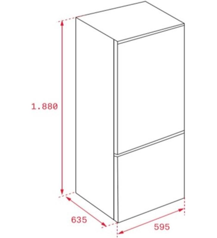 Teka 113420000 combi nfl342c e 188cm nf inox Frigoríficos combinados - 72531030_9339427369