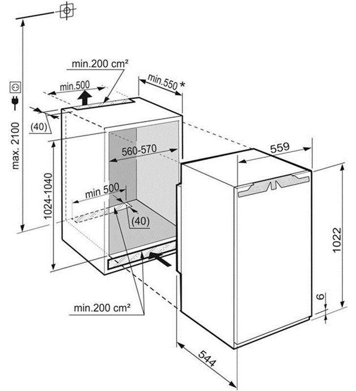 Liebherr 12014026 frigorifico 1p ik1920-20 102cm a++ integr - 36273611_8305039227