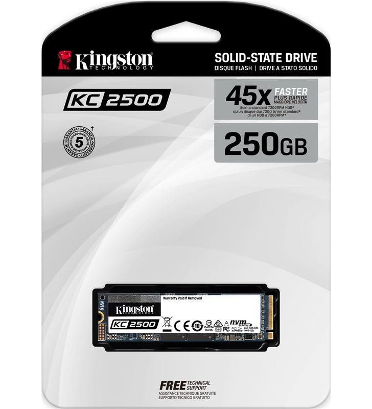 Disco sólido kiNgston kc250 250gb - pcie nvme gen 3.0 - m.2 2280 - lectura SKC2500M8/250G - 79129885_6880614991