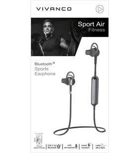 Auriculares deporte Vivanco sport air fitness bluetooth negro 38920 - 38920