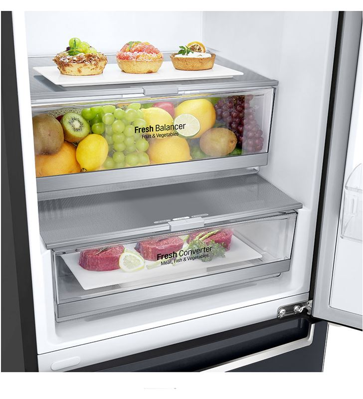 Lg GBB72MCDFN frigorífico combi no frost 203x59,5 clase d negro - 67450296_5499557303