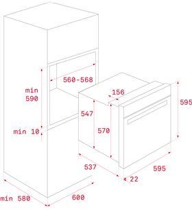 Horno independiente Teka hlb 8400 p multifunción pirolítico negro HLB8400PBK - TEK111000008
