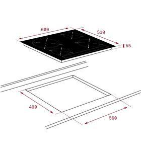 Teka placa de induccion vitroceramica induccion izc 64010 mss bk TEK112520015 - 8434778012491