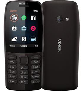 Nokia 210 negro móvil gsm dual sim 2.4'' qvga 16mb radio fm cámara vga 210 BLACK - +22725