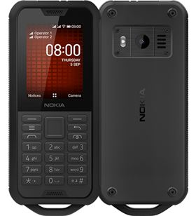 Nokia 800 though negro móvil 4g dual sim 2.4'' qvga 4gb hasta 32gb con sd c 800 BLACK - +22758
