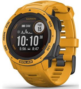 Reloj deportivo Garmin instinct solar amarillo ocre - pantalla 23*23mm - ca 010-02293-09 - 010-02293-09