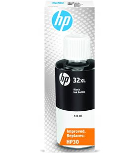 Botella de tinta negra Hp nº32xl - contenido 135ml - 6000 páginas - compati 1VV24AE - 1VV24AE