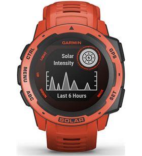 Reloj deportivo Garmin instinct solar rojo - pantalla 23*23mm - carga solar 010-02293-20 - 010-02293-20