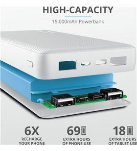 Powerbank Trust primo 10.000 mah blanco 23896 Cables - TRU23896