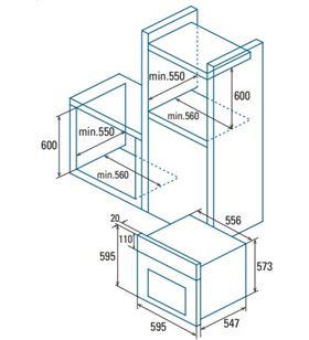 Cata horno microontas integrable SES 7004 X Microondas integrables - SES 7004 X