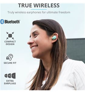 Auriculares bluetooth Trust nika touch mint - bt5.0 tws - drivers 10mm - co 23703 - 80166606_6358772755