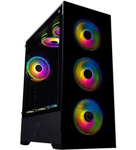 Caja semitorre Hiditec v20 argb - usb 3.0 - usb 2.0 - iluminación argb rain CHA010026 - HID-CAJA V20 ARGB