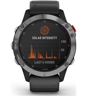Reloj deportivo con gps Garmin fénix 6 solar plata/negro - pantalla 33.02mm 010-02410-00 - 010-02410-00