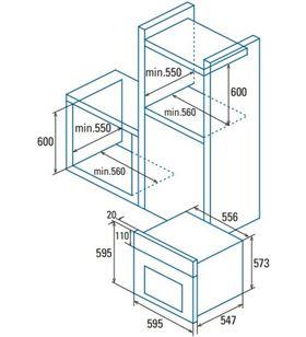 Cata 07001403 horno independiente mds 7208 bk Hornos eléctricos independientes - 07001403