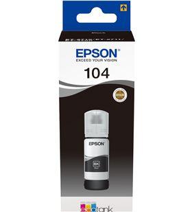 Botella de tinta negro Epson 104 ecotank - contenido 65 ml - compatibilidad C13T00P140 - EPS-C13T00P140