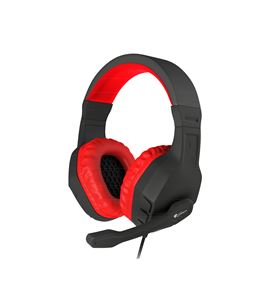 Auriculares con micrófono génesis argón 200 red - dRivers 50mm - 100-10000h NSG-0900 - GENS-AUR NSG-0900