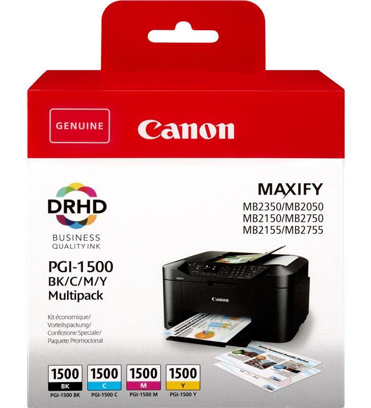 Multipack 4 cartuchos tinta Canon pgi-1500 bk/c/m/y - capacidad estándar - 9218B005 - 9218B005