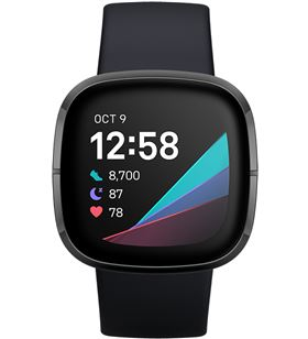 Fitbit sense carbón/grafito smartwatch asistentes google y alexa gps estrés FB512BKBK SENSE - +23034