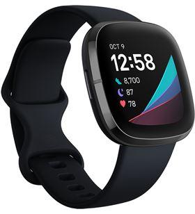 Fitbit FB512BKBK SENSE sense carbón/grafito smartwatch asistentes google y alexa gps estrés - +23034