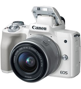 Canon KIT EOS M50 BLAnco cámara 24.1mp 4k digic 8 wifi nfc bluetooth + obje - +23007