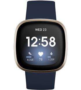 Fitbit versa 3 azul/dorado smartwatch asistentes google y alexa gps zona ac FB511GLNV VERSA - +23037