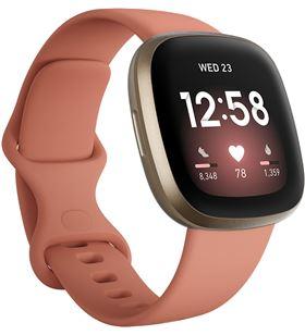 Fitbit versa 3 rosa/dorado smartwatch asistentes google y alexa gps zona ac FB511GLPK VERSA - +23036