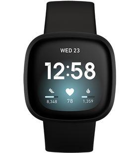 Fitbit versa 3 negro/negro smartwatch asistentes google y alexa gps zona ac FB511BKBK VERSA - +23035