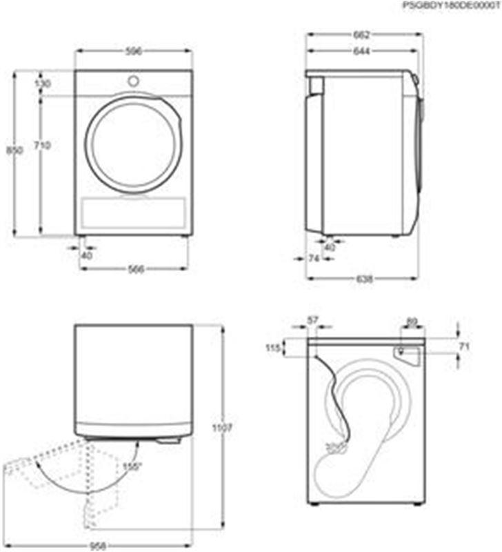Electrolux EW7H4854IB secadora bomba calor 8kg blanca a++ - 76529297_2550013390