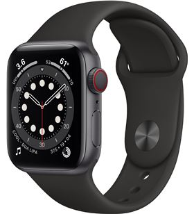 Apple watch s6 40mm gps cellular caja aluminio gris espacial con correa neg M06P3TY/A - M06P3TYA