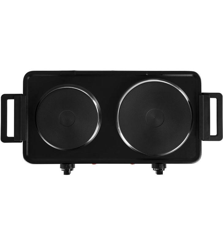 Placa eléctrica doble de cocina Orbegozo pe 2855 negra - 2500w (1000+1500) 17623 - 86201071_8737962586