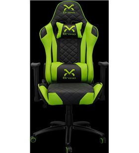 Sihogar.com silla gamer droxio troun verde - chasis metálico - apoyabrazos 2d - cilindr - TROUN