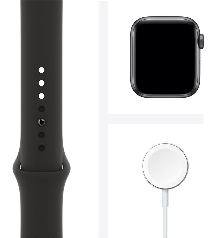 Apple watch se 40mm gps caja aluminio gris espacial con correa negra sport MYDP2TY/A - 85937369_1266321674