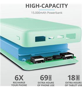 Powerbank Trust primo 10.000 mah menta 23898 Cables - TRU23898
