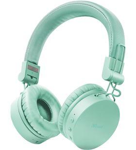 Auriculares bluetooth Trust tones turquoise - drivers 40mm - batería recarg 23912 - TRU-AUR 23912