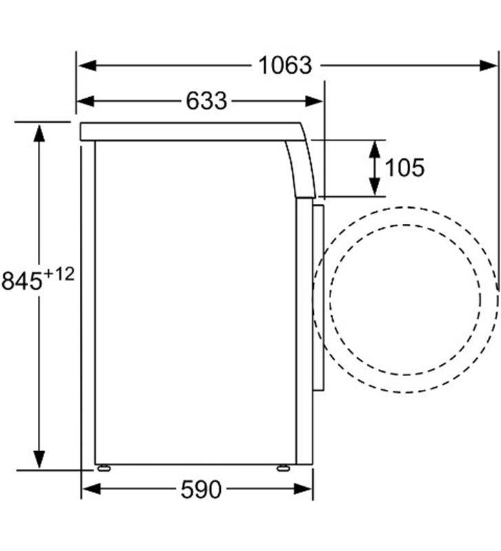 Bosch WUU28T6XES lavadora carga frontal 8kg c (1400rpm) inox - 86231717_6776753242