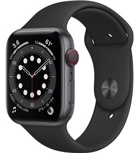 Apple watch s6 44mm gps cellular caja aluminio gris espacial con correa neg MG2E3TY/A - MG2E3TYA